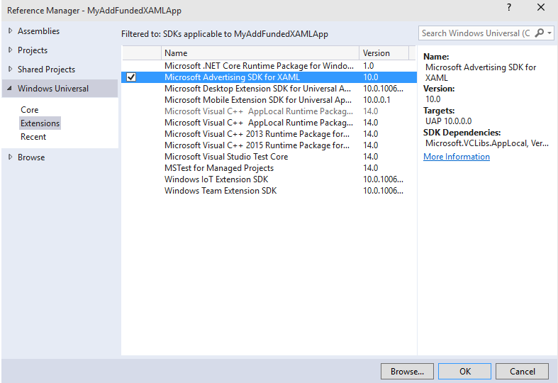 Microsoft Advertising SDK - Visual Studio Marketplace